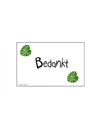 Minikaartje - Bedankt