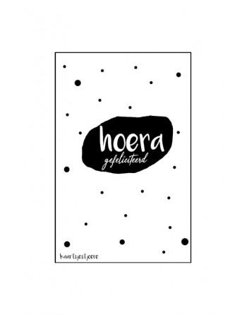 Minikaartje - Hoera