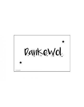 Minikaartje - Dankewol